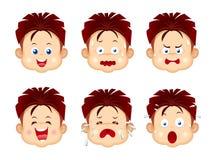 Expressões da face dos miúdos ilustração stock