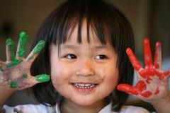 Expressões das crianças Fotos de Stock Royalty Free