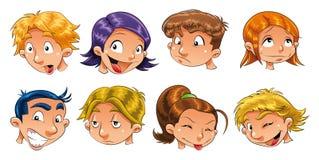 Expressões das crianças ilustração do vetor