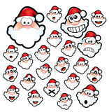 Expressões de Papai Noel Imagem de Stock Royalty Free