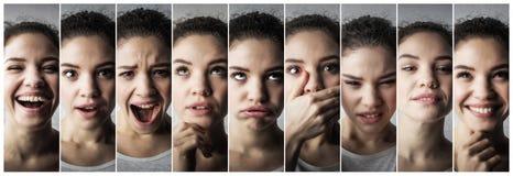 Expressões de uma menina fotografia de stock