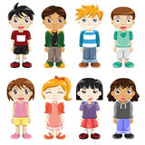 Expressões diferentes das crianças Imagens de Stock Royalty Free