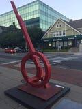 Expressões do centro em Stamford do centro em Connecticut fotografia de stock