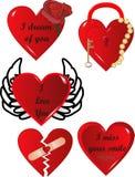 Expressões do coração Imagens de Stock Royalty Free