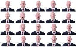 Expressões do homem de negócios Imagem de Stock Royalty Free