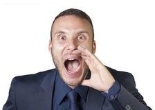 Expressões do homem de negócios fotografia de stock