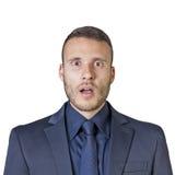 Expressões do homem de negócios fotos de stock