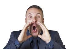 Expressões do homem de negócios imagem de stock