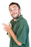 Expressões do homem novo Fotografia de Stock Royalty Free