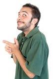 Expressões do homem novo Foto de Stock