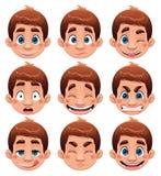 Expressões do menino. ilustração royalty free