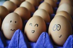 Expressões do ovo foto de stock