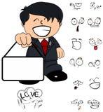 Expressões dos desenhos animados da criança do noivo de Singboard ajustadas Fotografia de Stock