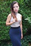 Expressões fêmeas asiáticas da beleza imagem de stock