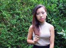 Expressões fêmeas asiáticas da beleza imagens de stock