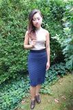 Expressões fêmeas asiáticas da beleza foto de stock royalty free