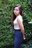 Expressões fêmeas asiáticas da beleza fotografia de stock