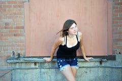 Expressões fêmeas da beleza fotografia de stock