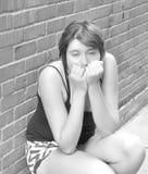 Expressões fêmeas da beleza foto de stock