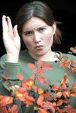 Expressões fêmeas da beleza. foto de stock