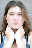 Expressões fêmeas da beleza imagens de stock royalty free