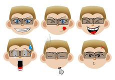Expressões faciais Imagem de Stock Royalty Free