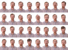 Expressões faciais Fotos de Stock