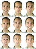 Expressões faciais imagens de stock