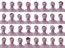 Expressões faciais Foto de Stock Royalty Free