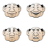 Expressões faciais Ilustração Stock