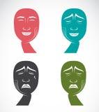 Expressões faciais diferentes Fotografia de Stock Royalty Free