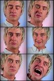 Expressões faciais parvas fotografia de stock royalty free