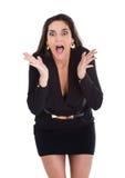 Expressões irritadas da mulher Imagens de Stock