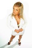 Expressões modelo louras 'sexy' 3 fotografia de stock royalty free