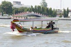 Express boat Bangkok. Chao Phraya Express boat in Chao Phraya river, Bangkok, Thailand Royalty Free Stock Images