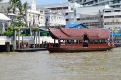 Express boat Bangkok. Chao Phraya Express boat in Chao Phraya river, Bangkok, Thailand Royalty Free Stock Image