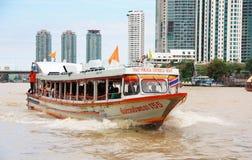 Express boat Bangkok. Chao Phraya Express boat in Chao Phraya river, Bangkok, Thailand Stock Image
