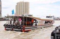 Express boat Bangkok. Back side of Chao Phraya Express boat in Chao Phraya river, Bangkok, Thailand Stock Photography