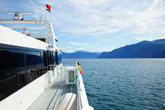 Express boat in Norway Royalty Free Stock Images