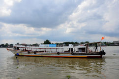 Express Boat service people at Chaopraya river Stock Photography