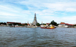 Express boats along Chao Phraya River Bangkok Royalty Free Stock Images