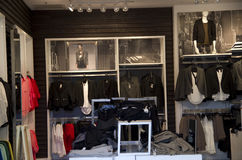 Express clothing store stock photos