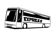 Express Coach. 2D illustration of an express luxury coach Stock Images