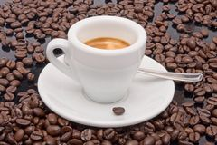 Express coffee. An express coffee as to the cafe Royalty Free Stock Photos