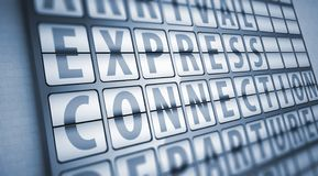 Express connection information on display board Royalty Free Stock Photography