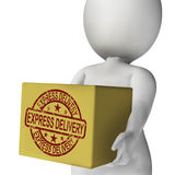 Express Delivery Box Means Sends And Delivers Quickly Royalty Free Stock Photos