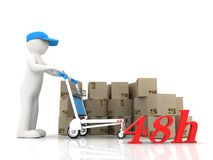 Express-delivery of the Concept Stock Image
