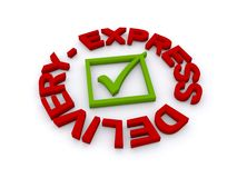Express delivery graphic Royalty Free Stock Photography