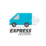 Express delivery icon concept. Van service, order, worldwide shi Stock Photos