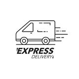 Express delivery icon concept. Van service, order, worldwide shi Royalty Free Stock Images
